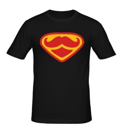 Мужская футболка Moustache Superman