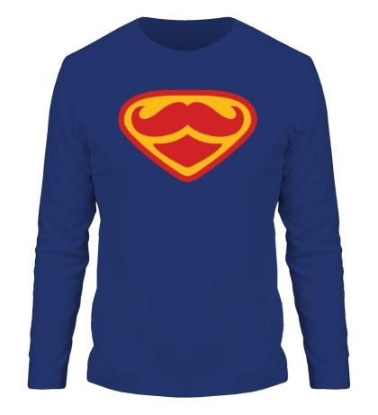 Мужской лонгслив Moustache Superman