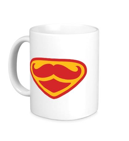 Керамическая кружка Moustache Superman