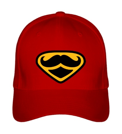 Бейсболка Moustache Superman