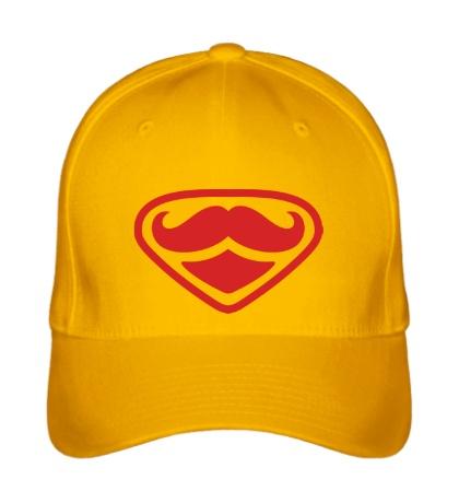 Бейсболка Moustache Superman
