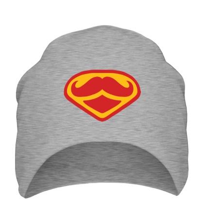 Шапка Moustache Superman