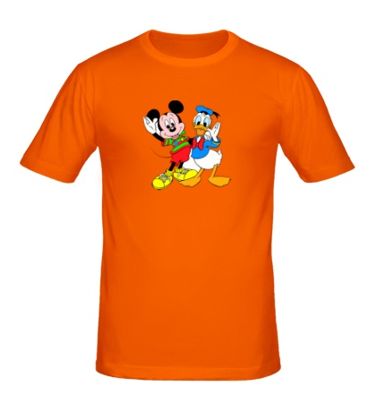 Мужская футболка Микки Маус и Дональд Дак