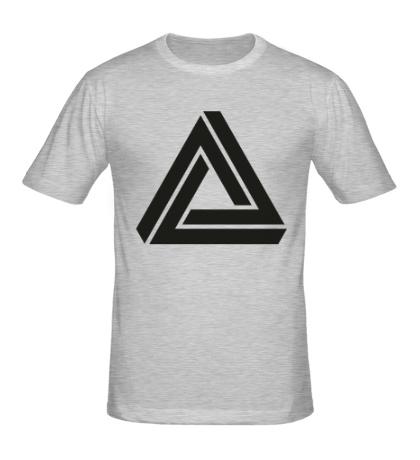 Мужская футболка Triangle Visual Illusion