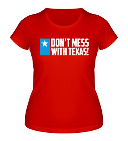 Женская футболка With Texas