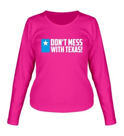 Женский лонгслив With Texas