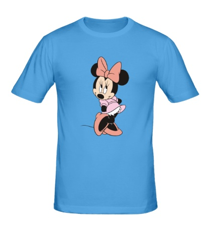 Мужская футболка Застенчивая Минни Маус
