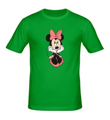 Мужская футболка Минни Маус улыбается
