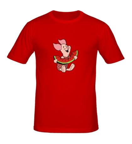 Мужская футболка Пятачок с арбузом