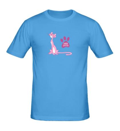 Мужская футболка Розовая пантера улыбается