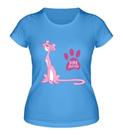 Женская футболка Розовая пантера улыбается