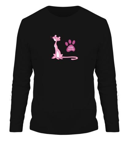 Мужской лонгслив Розовая пантера улыбается