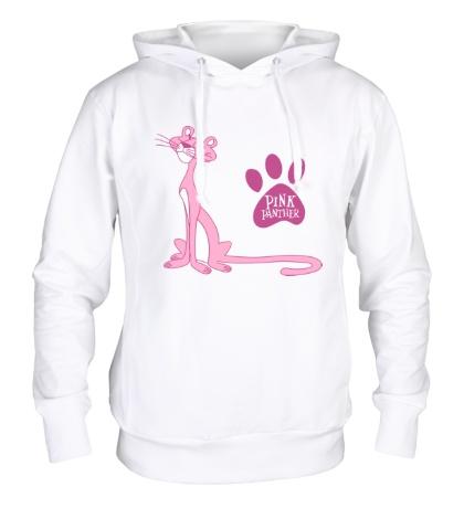 Толстовка с капюшоном Розовая пантера улыбается