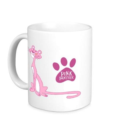 Керамическая кружка Розовая пантера улыбается