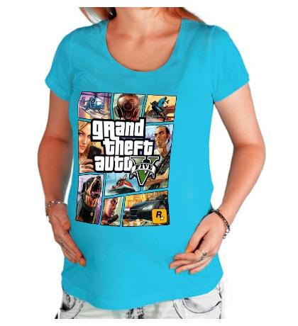 Футболка для беременной GTA 5: Poster