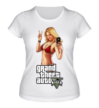 Женская футболка GTA 5: Selfie