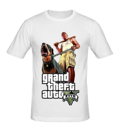 Мужская футболка GTA 5: Dog & Man
