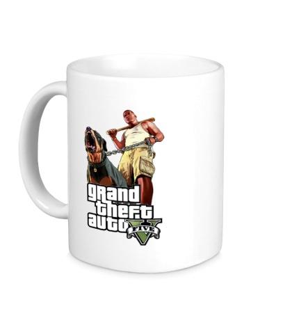 Керамическая кружка GTA 5: Dog & Man