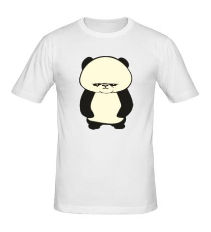 Мужская футболка Угрюмая панда, свет