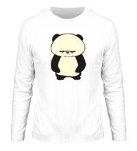Мужской лонгслив Угрюмая панда, свет