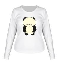 Женский лонгслив Угрюмая панда, свет