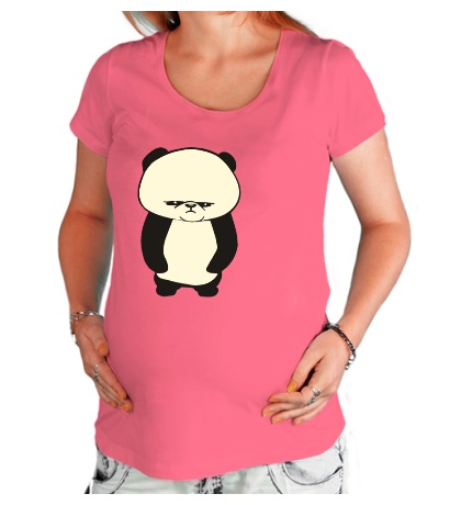 Футболка для беременной Угрюмая панда, свет