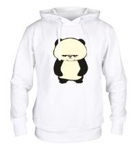 Толстовка с капюшоном Угрюмая панда, свет