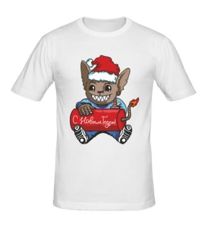 Мужская футболка Мышь с петардой