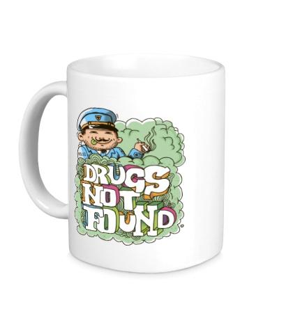 Керамическая кружка Drugs Not Found