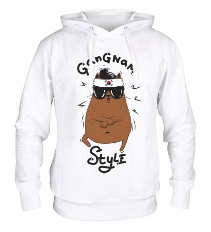 Толстовка с капюшоном Gangnam Cat