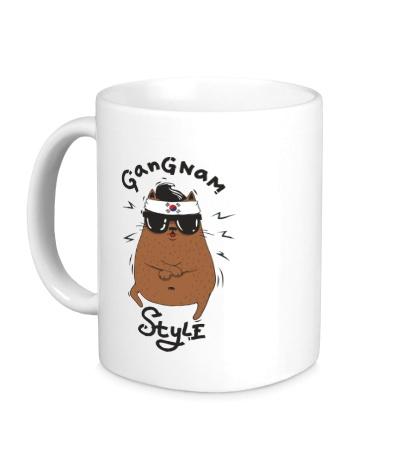 Керамическая кружка Gangnam Cat