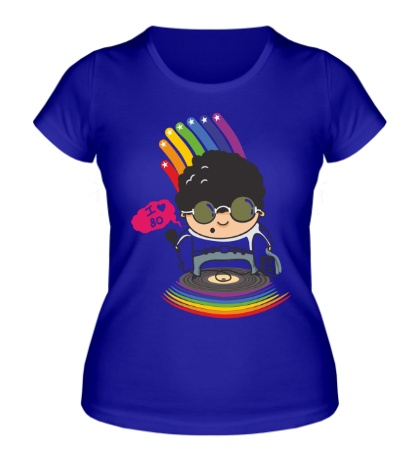 Женская футболка I Love 80