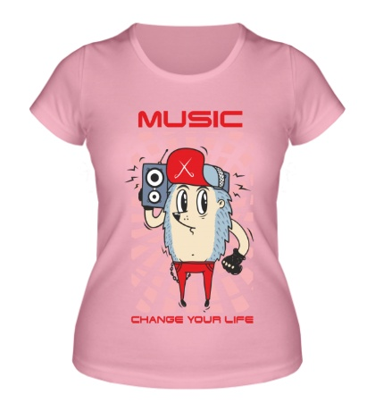 Женская футболка Music Change Your Life