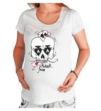 Футболка для беременной Poker Face