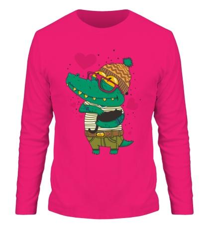 Мужской лонгслив Влюбленый крокодил