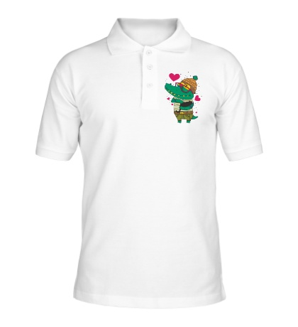Рубашка поло Влюбленый крокодил