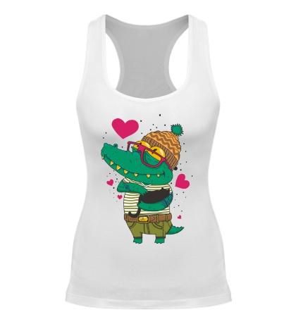 Женская борцовка Влюбленый крокодил