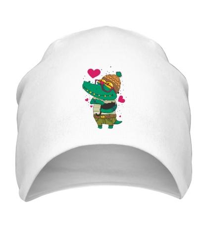 Шапка Влюбленый крокодил