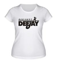Женская футболка Resident DJ