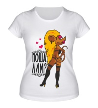 Женская футболка Шаловливая мышка