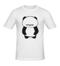 Мужская футболка Угрюмая панда