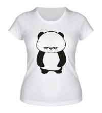 Женская футболка Угрюмая панда