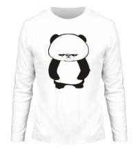 Мужской лонгслив Угрюмая панда