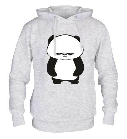 Толстовка с капюшоном Угрюмая панда
