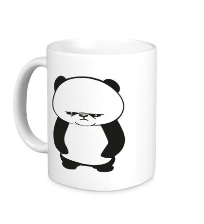 Керамическая кружка Угрюмая панда