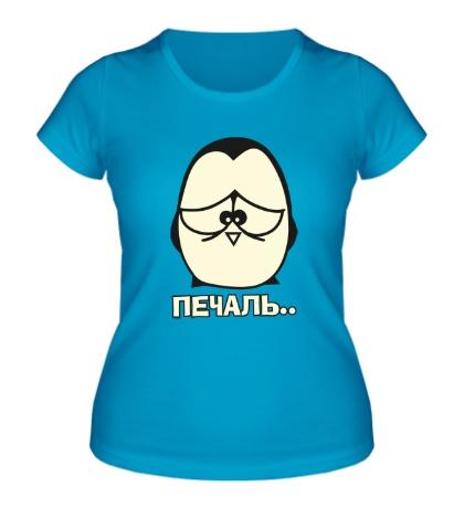 Женская футболка Печаль glow