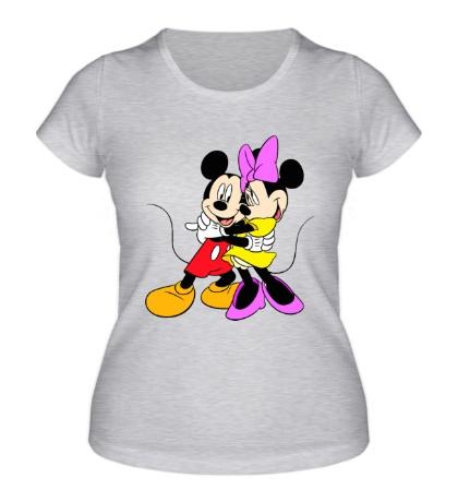 Женская футболка Микки и Минни