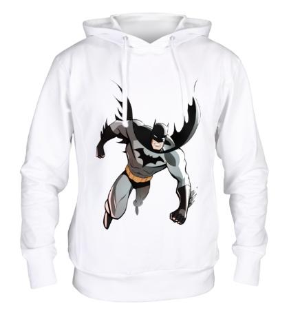Толстовка с капюшоном Летящий Бэтмен