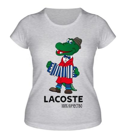 Женская футболка Lacoste 100%