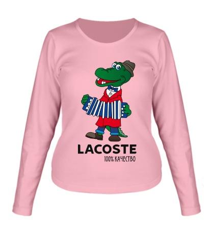 Женский лонгслив Lacoste 100%